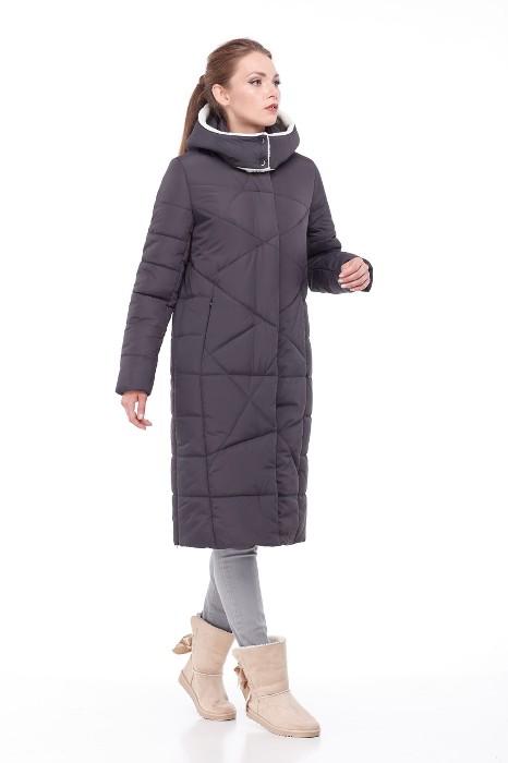 Модный пуховик-пальто.