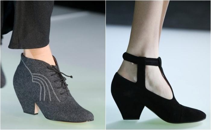 Туфли со скошенным каблуком.