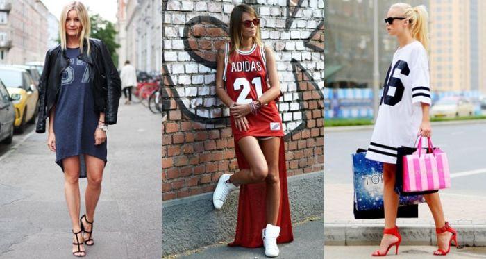 Платья в спортивном стиле.