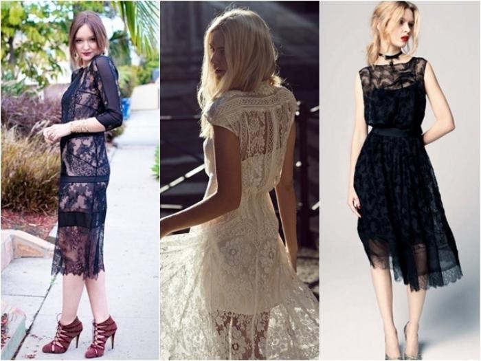 Аксессуары к кружевным платьям.