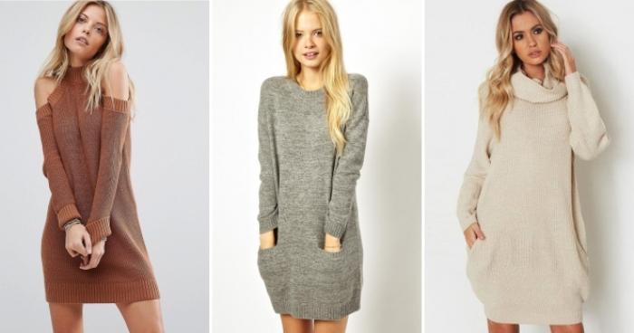 Вязанные платья свитер