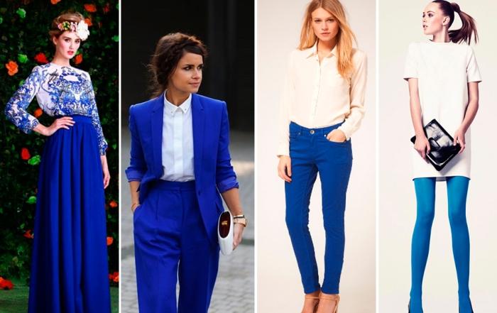 Синий цвет в одежде.