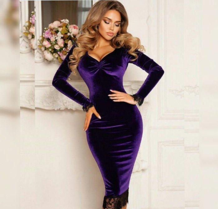 Платье ультрафиолет.