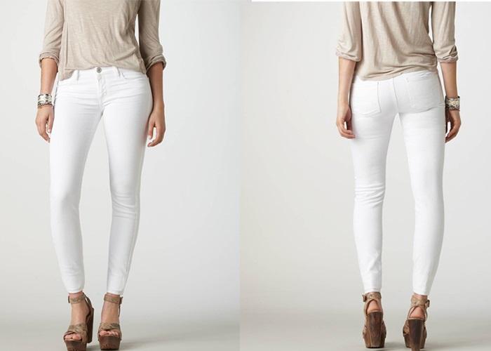Белые брюки.