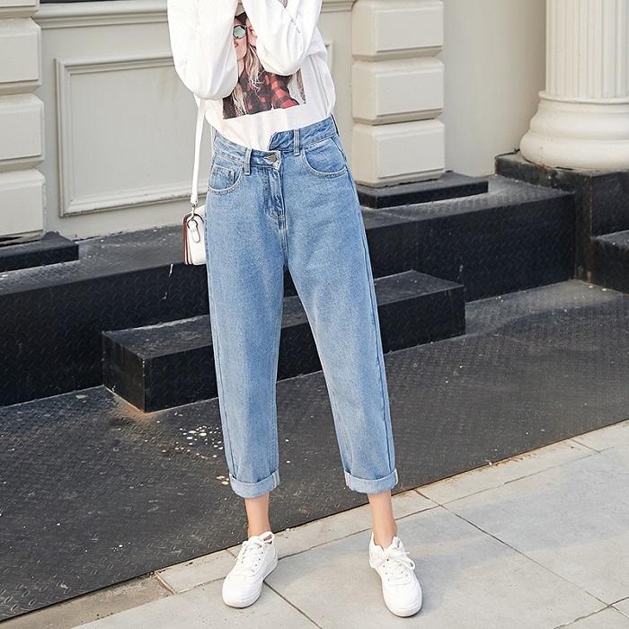 джинсовые брюки .