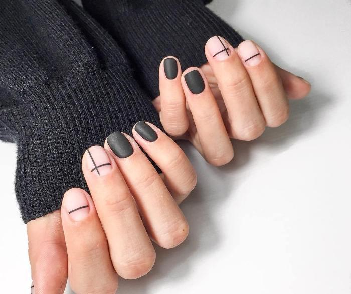 Геометрические ногти.