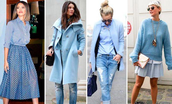 Одежда в голубом.