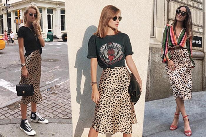леопардовая юбка.