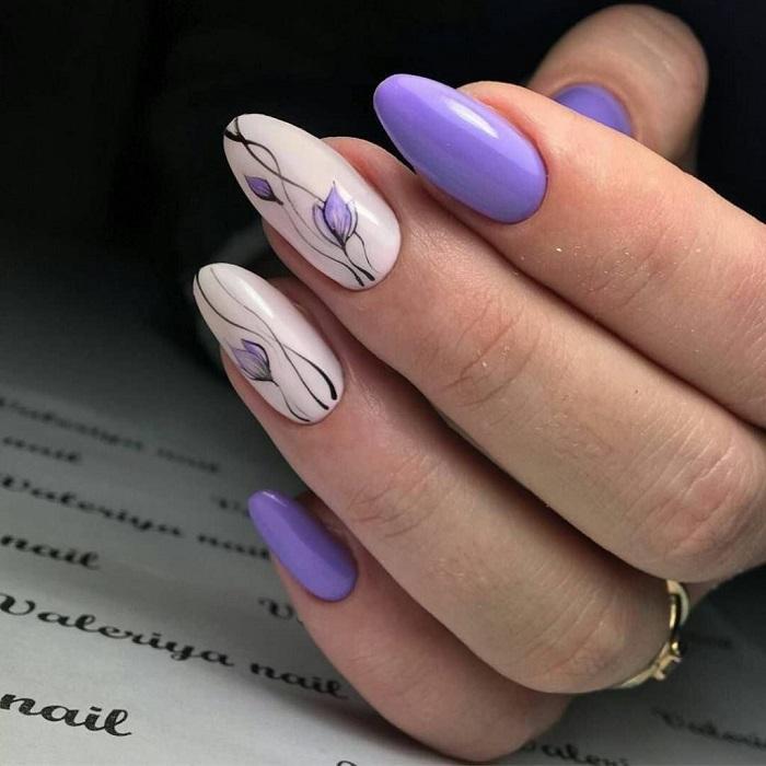 Актуальная форма ногтей.