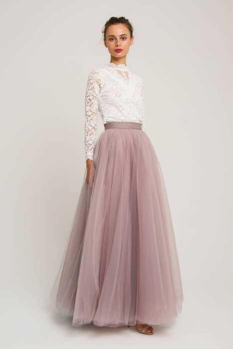 Модная длинная юбка.