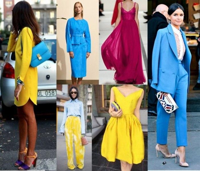 Модные цвета в одежде.