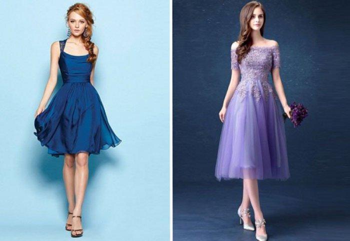 Платья лавандового цвета.