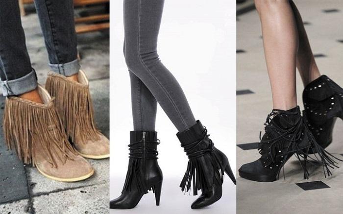 Обувь с бахромой в тренде в этом году.