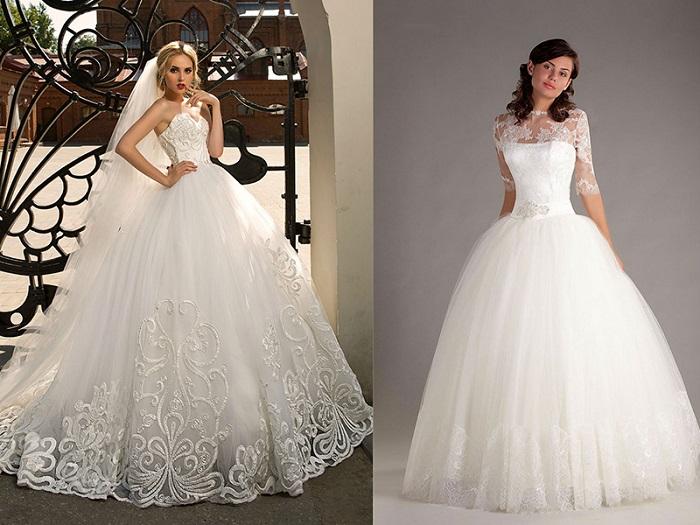 Пышные свадебные платья.