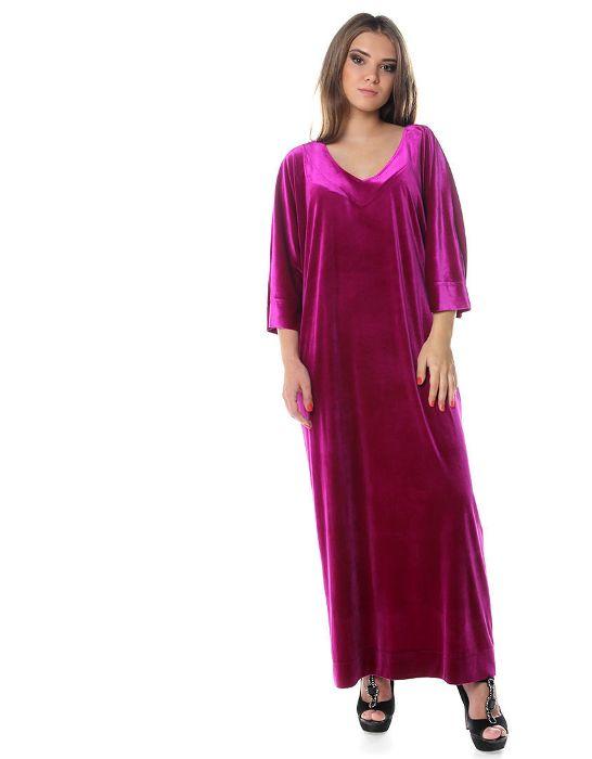 Платье цвета фуксия.
