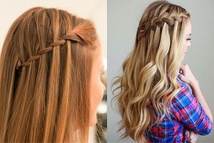 Модная прическа на длинные волосы.