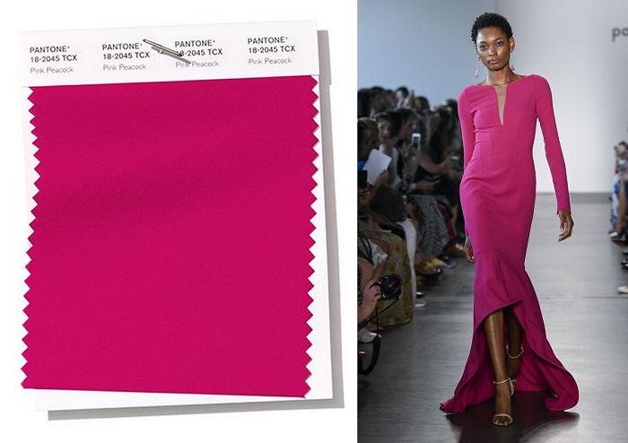 Модный розовый цвет.