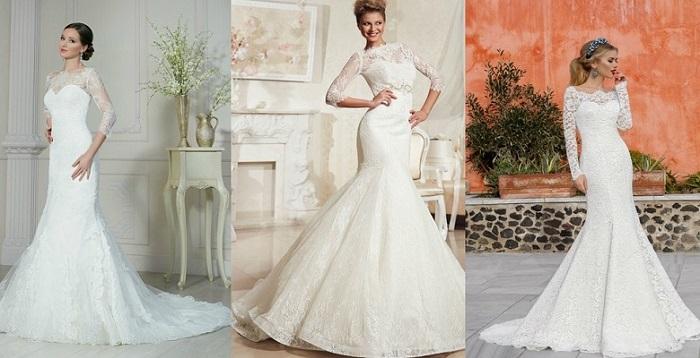 Свадебное платье-рыбка.