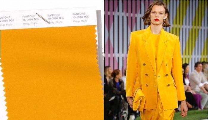 Ярко-желтый цвет.