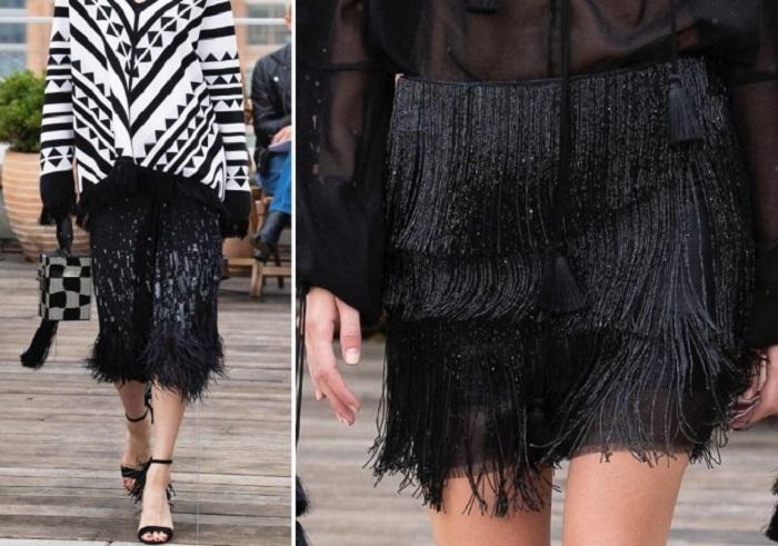 юбки с бахрамой.
