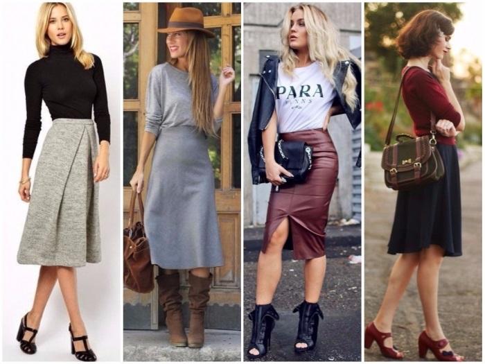зимние юбки.