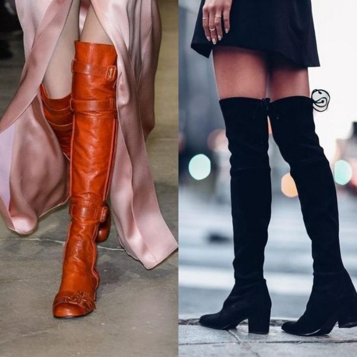Модные ботфорты на осень.