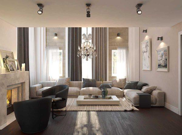 план освещения квартиры