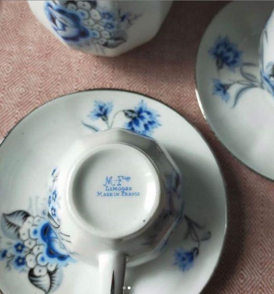Самые очаровательные винтажные кофейные пары французской мануфактуры Michelaud frères Лимож